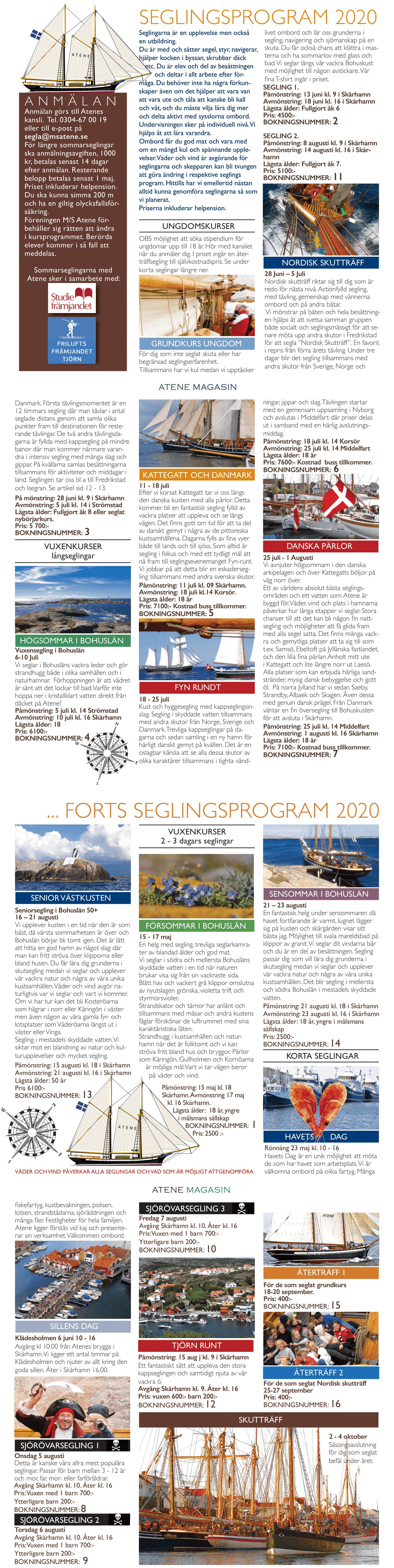 seglingsprogram för web 2020
